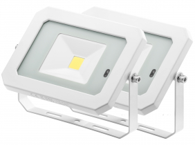 2x Projecteur LED 20W 1.600lm blanc avec détecteur de mouvement intégré AdLuminis 2x Projecteur LED 20W 1.600lm blanc avec détecteur de mouvement intégré AdLuminis