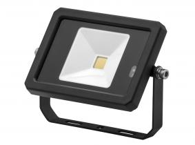 Projecteur LED 10W 800lm noir avec détecteur de mouvement intégré AdLuminis Projecteur LED 10W 800lm noir avec détecteur de mouvement intégré AdLuminis