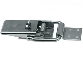 Exzenterverschluss aus Blech mit Lasche für Vorhängeschloss Exzenterverschluss aus Blech mit Lasche für Vorhängeschloss