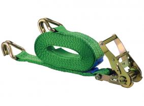 Sangle d'arrimage à cliquet et crochet 6 m 2.000 kg EN 12195-2, certifiée TÜV, GS Sangle d'arrimage à cliquet et crochet 6 m 2.000 kg EN 12195-2, certifiée TÜV, GS