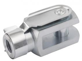 Gabelgelenke DIN 71752 mit Schnappfederbolzen M6, d=6mm Gabelgelenke DIN 71752 mit Schnappfederbolzen M6, d=6mm