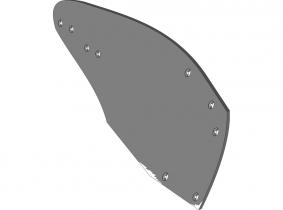 Streichblech-Hinterteil - rechts Streichblech-Hinterteil - rechts