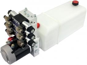 POWER-PACK (M-P-T) 24V/2KW/2,6ccm  5L-Tank - 3 x doppeltwirkend POWER-PACK (M-P-T) 24V/2KW/2,6ccm  5L-Tank - 3 x doppeltwirkend