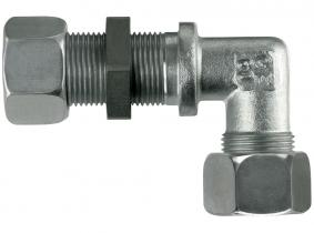 Gewinkelte Schottverschraubung S16-M24x1,5 mit M+S Gewinkelte Schottverschraubung S16-M24x1,5 mit M+S