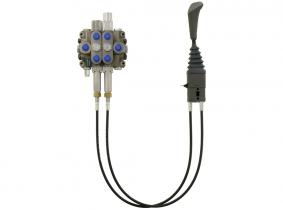 Hydrauliksteuergerät HYDRO CONTROL Frontladersteuergerät D4/2 80L mit Druckweiterführung, Federrückstellung und Überdruckventil, teilmontiert, Seilzug 700mm Hydrauliksteuergerät HYDRO CONTROL Frontladersteuergerät D4/2 80L mit Druckweiterführung, Federrückstellung und Überdruckventil, teilmontiert, Seilzug 700mm