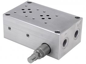 WALVOIL Anschlussblock 3/8'' (2-fach) mit DBV aus Aluminium WALVOIL Anschlussblock 3/8'' (2-fach) mit DBV aus Aluminium