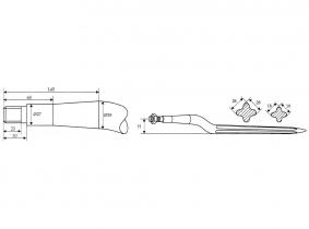 Strautmann Silo-Block-Zinken, 800mm, 35mm gekr. M20x1,5 Strautmann Silo-Block-Zinken, 800mm, 35mm gekr. M20x1,5
