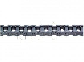 """Elite 205 (1/2x1/4"""") 12,7x6,4mm 1-fach-Rollenkette Elite 205 (1/2x1/4"""") 12,7x6,4mm 1-fach-Rollenkette"""