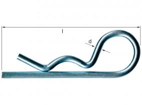2 mm einfach Federstecker verzinkt 2 mm einfach Federstecker verzinkt