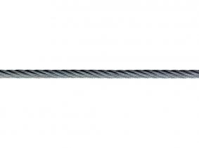 mtr. 3mm Drahtseil DIN 3060 6x19+SE NIRO (1570 Nqmm) mtr. 3mm Drahtseil DIN 3060 6x19+SE NIRO (1570 Nqmm)