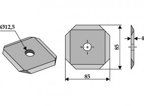 Futtermischwagenmesser passend zu Kuhn 180g 4mm Orig.Nr. A7153000 Futtermischwagenmesser passend zu Kuhn 180g 4mm Orig.Nr. A7153000
