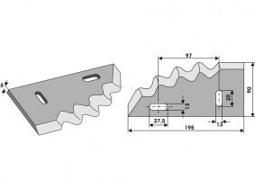 Futtermischwagenmesser rechts passend zu Himel Orig.Nr. 3000461 470g 5mm Futtermischwagenmesser rechts passend zu Himel Orig.Nr. 3000461 470g 5mm