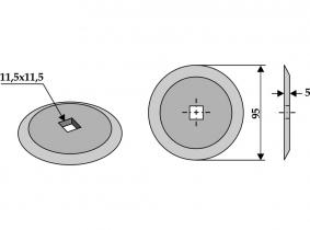 Futtermischwagenmesser passend zu Van Lengerich 230g 5mm Orig.Nr. 65598 Futtermischwagenmesser passend zu Van Lengerich 230g 5mm Orig.Nr. 65598