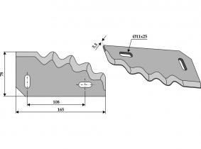 Futtermischwagenmesser rechts passend zu Unifeed 360g 5,5mm Futtermischwagenmesser rechts passend zu Unifeed 360g 5,5mm