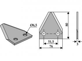 Futtermischwagenmesser passend zu Zago 98g 3mm Orig.Nr. 60613007 Futtermischwagenmesser passend zu Zago 98g 3mm Orig.Nr. 60613007