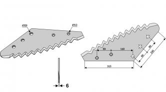 Futtermischwagenmesser passend zu AGM  2,8kg 6mm Futtermischwagenmesser passend zu AGM  2,8kg 6mm