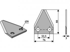 Futtermischwagenmesser passend zu Faresin 105g 3mm Futtermischwagenmesser passend zu Faresin 105g 3mm