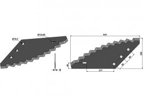 Futtermischwagenmesser passend zu Logifeed & R.M.H.  3,29kg 6mm Futtermischwagenmesser passend zu Logifeed & R.M.H.  3,29kg 6mm
