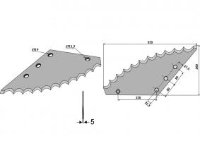 Futtermischwagenmesser passend zu Strautmann 2,77kg 5mm Futtermischwagenmesser passend zu Strautmann 2,77kg 5mm