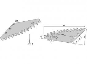 Futtermischwagenmesser passend zu Mutti 3,12kg 6mm Futtermischwagenmesser passend zu Mutti 3,12kg 6mm