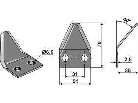 Futtermischwagenmesser passend zu Sgariboldi 40° 50g 2,5mm Futtermischwagenmesser passend zu Sgariboldi 40° 50g 2,5mm