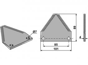 Futtermischwagenmesser passend zu Lukas Typ Castor G60 180g 4mm Futtermischwagenmesser passend zu Lukas Typ Castor G60 180g 4mm