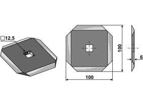 Futtermischwagenmesser passend zu Audureau 355g 6mm Orig.Nr. A7153011 Futtermischwagenmesser passend zu Audureau 355g 6mm Orig.Nr. A7153011