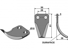 Futtermischwagenmesser passend zu Mayer 126g 5mm Orig.Nr. KDM4120200951 Futtermischwagenmesser passend zu Mayer 126g 5mm Orig.Nr. KDM4120200951
