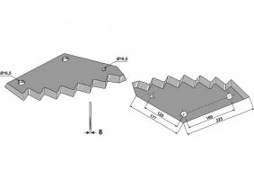 Futtermischwagenmesser passend zu JF-Stoll 1,93kg 8mm Orig.Nr. 1380-0034 Futtermischwagenmesser passend zu JF-Stoll 1,93kg 8mm Orig.Nr. 1380-0034