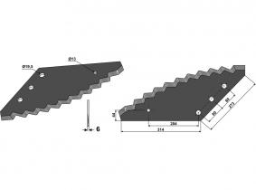 Futtermischwagenmesser passend zu Belmac 3,3kg 6mm Futtermischwagenmesser passend zu Belmac 3,3kg 6mm