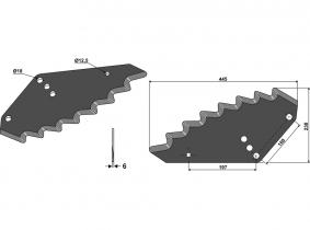 Futtermischwagenmesser passend zu Shelbourne-Reynolds 2,1kg 5mm Orig.Nr. 61481202 Futtermischwagenmesser passend zu Shelbourne-Reynolds 2,1kg 5mm Orig.Nr. 61481202