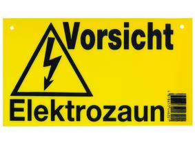 Warnschild für Elektrozaun Warnschild für Elektrozaun