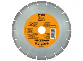 Pferd-Diamanttrennscheibe PS-Linie segmentiert DS 115 PSF Pferd-Diamanttrennscheibe PS-Linie segmentiert DS 115 PSF