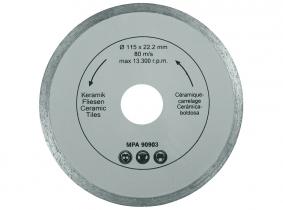 Diamant Trennscheibe (Import-Qualität) 115mm geschlossen Diamant Trennscheibe (Import-Qualität) 115mm geschlossen