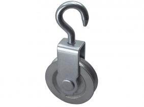 Blockrolle Gusseisen 50mm, für 6mm Seil Blockrolle Gusseisen 50mm, für 6mm Seil