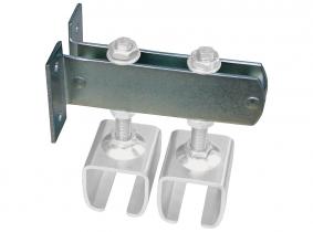 Doppelschienenträger für 2 verstellbare Muffen für Laufschiene 180kg/400kg Doppelschienenträger für 2 verstellbare Muffen für Laufschiene 180kg/400kg