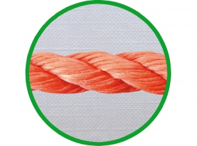 mtr. 6mm PP-Seil, 3-litzig DIN 83332, orange mtr. 6mm PP-Seil, 3-litzig DIN 83332, orange