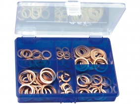 DIN 7603 Kupferdichtringe klein Sortiment im Kunststoffkasten DIN 7603 Kupferdichtringe klein Sortiment im Kunststoffkasten