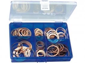 DIN 7603 Kupferdichtringe groß Sortiment im Kunststoffkasten DIN 7603 Kupferdichtringe groß Sortiment im Kunststoffkasten