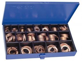 DIN 7603 Kupferdichtringe Sortiment im Stahlblechkasten DIN 7603 Kupferdichtringe Sortiment im Stahlblechkasten