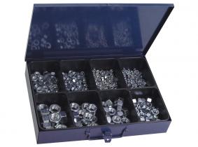DIN 934 6-Kantmuttern Sortiment im Metallkasten, 340-tlg. DIN 934 6-Kantmuttern Sortiment im Metallkasten, 340-tlg.