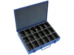 DIN 471A-Außensicherungsringe Sortiment im Metallkasten, 180-tlg. DIN 471A-Außensicherungsringe Sortiment im Metallkasten, 180-tlg.