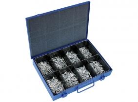 Blindnieten Sortiment im Metallkasten, 400-tlg. Blindnieten Sortiment im Metallkasten, 400-tlg.