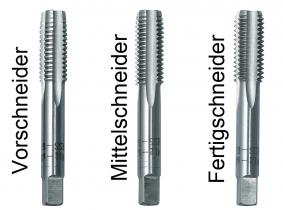 HSS-Gewindebohrersatz 3-teilig M3x0,5 HSS-Gewindebohrersatz 3-teilig M3x0,5