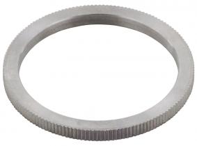 Reduzierring für Kreissägeblätter gerändelt 20mm Außen, 12,7mm Innen, 1,2mm Stärke Reduzierring für Kreissägeblätter gerändelt 20mm Außen, 12,7mm Innen, 1,2mm Stärke