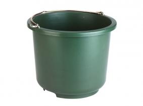 """Baueimer Kunststoff """"extrastark"""" 12 Liter, olivgrün Baueimer Kunststoff """"extrastark"""" 12 Liter, olivgrün"""