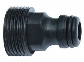 """Kunststoff-Klick-Stecker mit Außengewinde 3/4"""" Kunststoff-Klick-Stecker mit Außengewinde 3/4"""""""