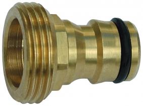 """Messing-Klick-Stecker mit Außengewinde 1/2"""" Messing-Klick-Stecker mit Außengewinde 1/2"""""""