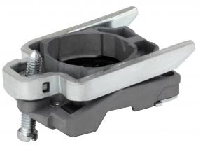 Metallhalter mit Klemmwippe für Schalter Einsätze Metallhalter mit Klemmwippe für Schalter Einsätze