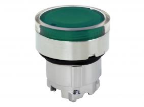 Melde Leuchten Drucktaster Einsatz bündig grün TB4 BW33 Melde Leuchten Drucktaster Einsatz bündig federrückstellend grün TB4 BW33